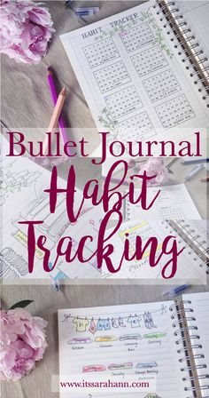 ItsSarahAnn: Bullet Journal Habit Tracking - Monthly and weekly tracking methods plus 20 things you can track in your BuJo!