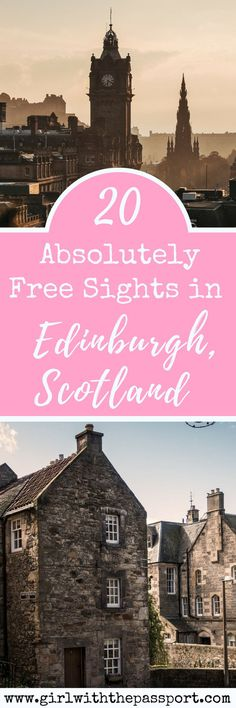 Check out 20 totally awesome and totally #free #budget #backpacker attractions in #Edinburgh #Scotland. Just because your #travel #itinerary takes you to Scotland doesn't mean you have to go broke. #europe #wanderlust