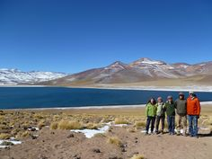 Our family at the Lagunas Altiplanicas above the Atacama desert in Northern Chile. At over 14,000 ft these high mountain lakes are spectacular.