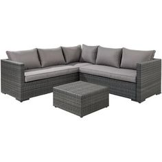 Central Park loungeset 'Alba' wicker antraciet