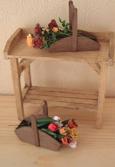wooden flower basket tutorial