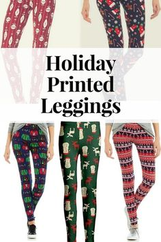 I don't know about you,  but I love holiday printed leggings.  They are so much fun to wear around the house, shopping, and to dress them up for holiday parties.  #mystyle#holidays#leggings#christmas#gifts#woman#ad