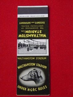 VINTAGE-BRYANT-amp-MAY-MATCH-BOOK-COVER-WALTHAMSTOW-STADIUM-GREYHOUND-RACING