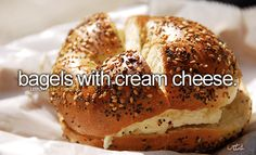 the asiago cheese bagels.!! mmm with hazelnut cream cheese.! my fave.!!(:
