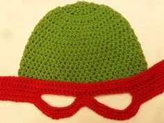 Baby Mutant Ninja Turtle Crochet Hat Pattern. This is a crochet pattern for sale, but would be so easy to knit.