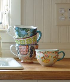 I love teacups and coffee mugs. I never want a matched set...an eclectic gathering is my favorite!