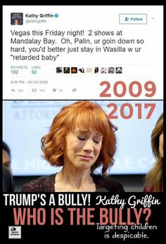 She will never get what she deserves on this Earth but she will when she dies and go straight to Hell. Kathy Griffin you are a d-list cunt Liberal Hypocrisy, Liberal Logic, Stupid Liberals, Louisiana, Kathy Griffin, Out Of Touch, Conservative Politics, Stupid People, Dumb And Dumber