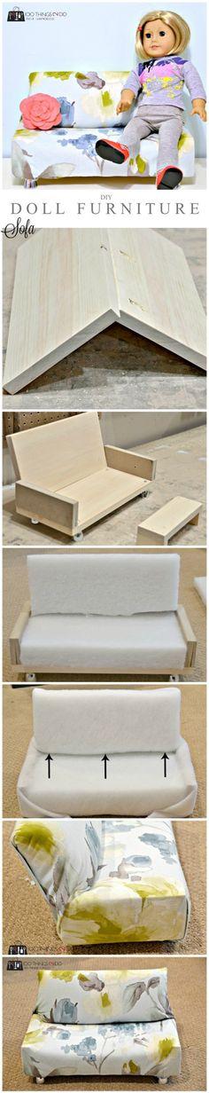 DIY Doll furniture - Sofa P