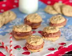 Mini Peanut Butter Cookies with Buttercream Frosting