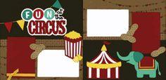 Fun At The Circus Page Kit www.outonalimbscrapbooking.com