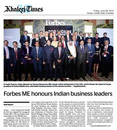 Forbes ME honors Mr. Dilip Rahulan as one of the Top 100 Indian Leaders in the UAE (Khaleej Times, June 28, 2013)  http://www.pacificcontrols.net/news-media/Forbes-ME-honours-Indian-business-leaders-28-June-2013.pdf