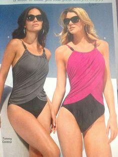 Boston proper tummy control one piece swimsuits