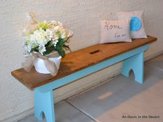 color on old bench