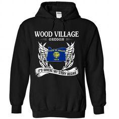 WOOD VILLAGE It's Where My Story Begins T Shirts, Hoodie Sweatshirts