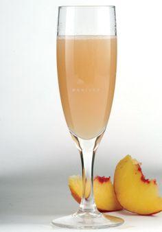 Una rica bebida de mimosa de durazno, para que le pongas variedad a tus desayunos con un rico sabor original.