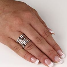 @Overstock - Multi-tiered ringSterling silver jewelryClick here for ring sizing guidehttp://www.overstock.com/Jewelry-Watches/Toscana-Collection-Sterling-Silver-Multi-tiered-Band/5901326/product.html?CID=214117 $58.49