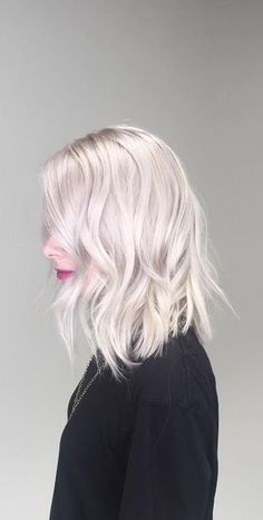 As platinum white as blonde can get. Color by Brandy Nolan.