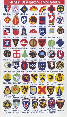 Army insignia #army #inforgraphic