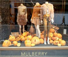 """MULBERRY,London,UK, """"Summer is over.....try to contain yourself :the season of pumpkin EVERYTHING is coming"""", pinned by Ton van der Veer"""