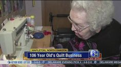 VIDEO: 106-year-old entrepreneur's quilting business