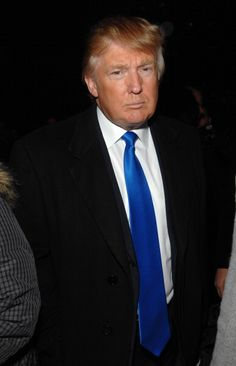 Donald Trump during Mercedes Benz Fashion Week Fall 2007 Michael Kors Front Row and Backstage at The Tent Bryant Park in New York City New York...