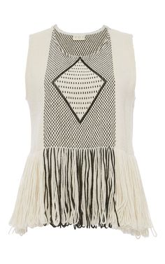 Voz Fringe Top by VOZ for Preorder on Moda Operandi