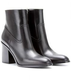 e70408fcf74 Saint Laurent - Black Hunting Leather Ankle Boots - Lyst