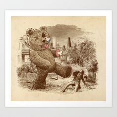 Teddy's Back! Art Print by Victor Calahan - $19.00