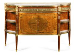 Afruitwood, ebony andamaranth inlaid plum mahogany and mahogany commode a l'anglaise in Louis XVI style, late 19th century | Lot | Sotheby's