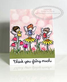 Thank you card using Lawn Fawn Fairy Friends #thankyoucard #thankyou #teacherappreciation #lawnfawn #cardmaking #papercrafting