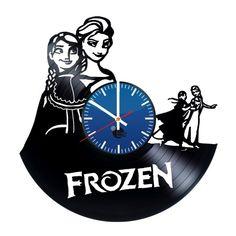 Frozen Handmade Vinyl Record Wall Clock Fan Gift - VINYL CLOCKS