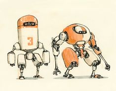 Nuthin But Mech: DRAWINGS: A new book by Jake Parker
