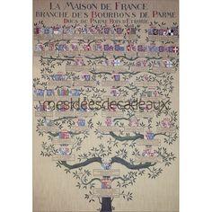 Family tree of Bourbon Kings - mesIdéesdecadeaux