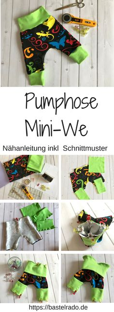 Pumphose Mini-We - Nähanleitung inkl Schnittmuster baby care and dress up - Baby Care Baby Knitting Patterns, Knitting For Kids, Knitting For Beginners, Baby Patterns, Sewing Patterns, Easy Knitting, Sewing Dress, Sewing Clothes, Clothes Sale