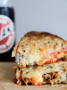 Spicy Mini Meatball Grilled Cheese