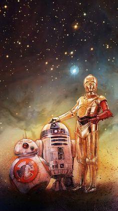 Imagem de star wars, bb-8, and c3po