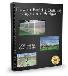 A complete instruction guide on how to build a batting cage, out of PVC or wood, on a budget.