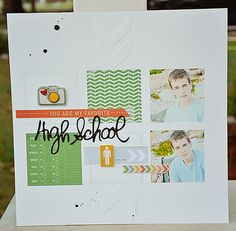 HIgh School Boy scrapbook layout by sarahak