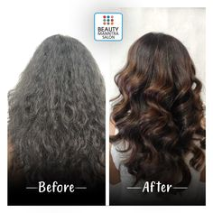Maybe no less than magic! A simple example of how our hair artists work with your hair to bring out your inner beauty. Get yourself a trendy hair transformation from BeautyManntra Salon and flaunt yourself with style. For details call: 6354 689 Hair Transformation, Trendy Hairstyles, Artist At Work, Haircolor, Your Hair, Salons, Magic, Artists, Long Hair Styles