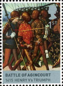 Sello: Agincourt (Reino Unido de Gran Bretaña e Irlanda del Norte) (Kings and Queens, The Houses of Lancaster and York) Mi:GB 2619,Sn:GB 2555b,Yt:GB 2984,Sg:GB 2818c,AFA:GB 2828