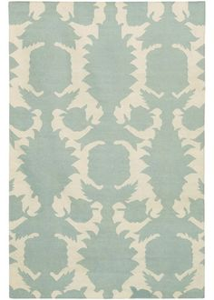 Thomas Paul Flock Dove Cream Flatweave Dhurrie Rug