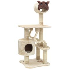 Majestic Pet Products 49 in. Casita Fur Cat Tree with Kitty Face -- Find out more details by clicking the image : Cat scratching post Cat Scratching Tree, Cat Cube, Cat Climbing Tree, Animal Gato, Fancy Cats, Cat Scratcher, Cat Condo, Cat Aesthetic, Pet Furniture