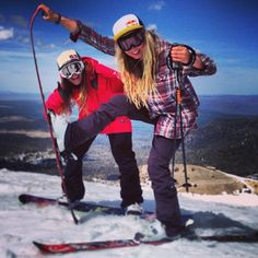 Snow boarding and skiing with your best friend is always the best
