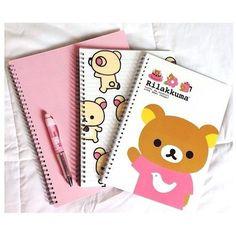 back to school Rilakkuma, I Love School, Diy Back To School, Stationary School, Cute Stationary, Kawaii Chibi, Kawaii Cute, Kawaii Stuff, Kawai Japan