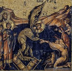 One of 12 minature mosaics from Diptych with Cycle of Feast Days Holy Saturday, Jesus Resurrection, Byzantine Icons, Holy Week, Religious Icons, Orthodox Icons, Renaissance Art, Christian Art, Ancient Greece