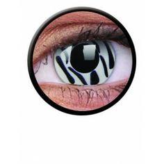 Lentile de contact colorate albe de petrecere / halloween Crazy Zebra - http://lensa.ro/lentile-contact-colorate/crazy/crazy-zebra