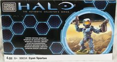 Halo Cyan Limited Edition Spartan Megabloks 99034 New in package