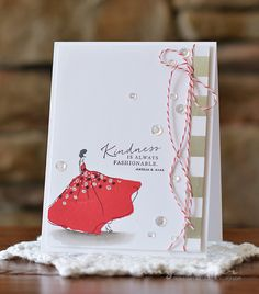 Kindness Is Always Fashionable Card by Amy Sheffer for Papertrey Ink (August 2015)