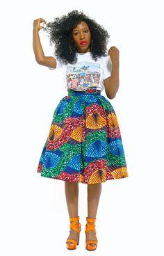 NEW Nkeke Skirt by THEAFRICANSHOP ~African fashion, Ankara, kitenge, African women dresses, African prints, African men's fashion, Nigerian style, Ghanaian fashion ~DKK