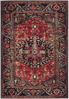 Safavieh Vintage Hamadan VTH215A Red / Multi Rug